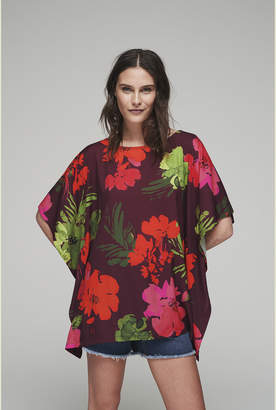 32589a41349 Long Tall Sally Pretty Floral Fabric Mix Top