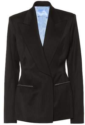 Thierry Mugler Linen-blend blazer