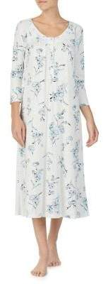 Aria Floral Print Long Nightgown