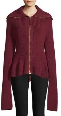 Alexander McQueen Knit Peplem Jacket
