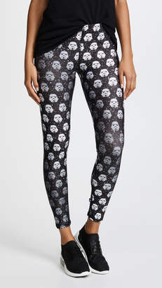 Terez Storm Trooper Black Glitter Performance Leggings