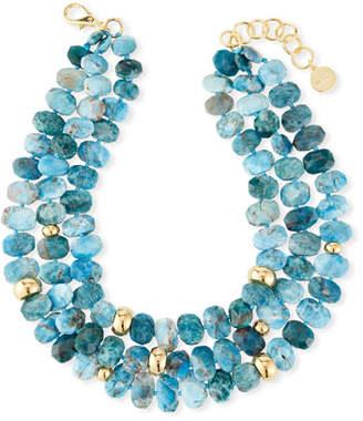 NEST Jewelry Multi-Strand Apatite Necklace