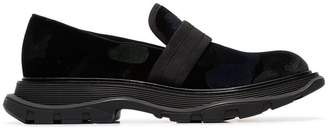Alexander McQueen black chunky leather loafers