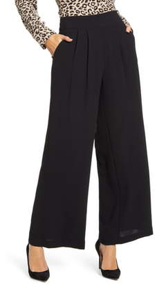 1 STATE 1.STATE Crepe Wide Leg Pants