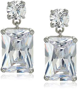 Carolee Glass Ceiling Stone Double Drop Earrings