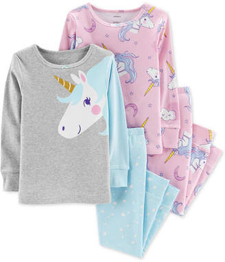 Carter's Toddler Girls 4-Pc. Unicorn Snug-Fit Cotton Pajama Set