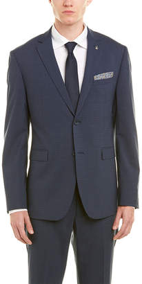 Original Penguin Slim Fit Wool-Blend Suit With Flat Front Pant