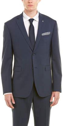 Original Penguin Slim Fit Wool-Blend Suit With Flat Front Pant