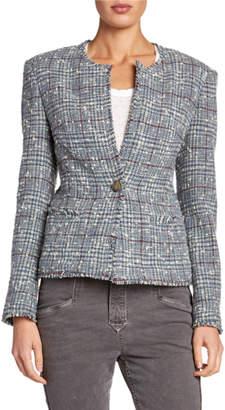 Etoile Isabel Marant Kamila Collarless Structured Tweed Jacket