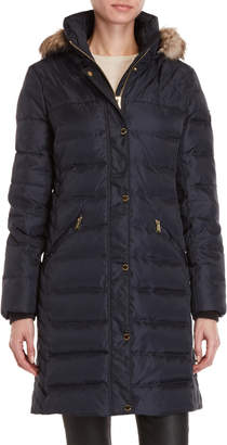 MICHAEL Michael Kors Faux Fur Trim Hooded Down Jacket