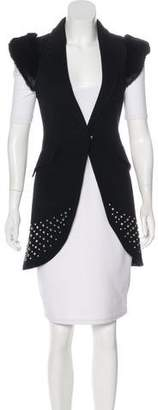 Thomas Wylde Fur-Trimmed Wool Vest