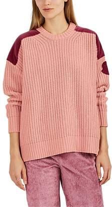Moncler 2 1952 Women's Velvet-Appliquéd Wool-Cashmere Sweater