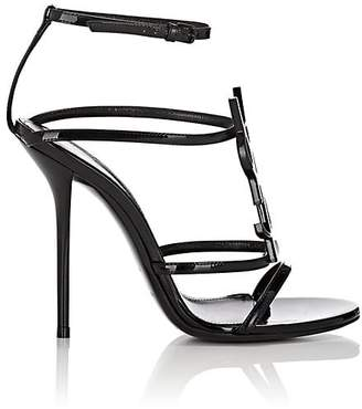 Saint Laurent Women's Cassandra Patent Leather Sandals