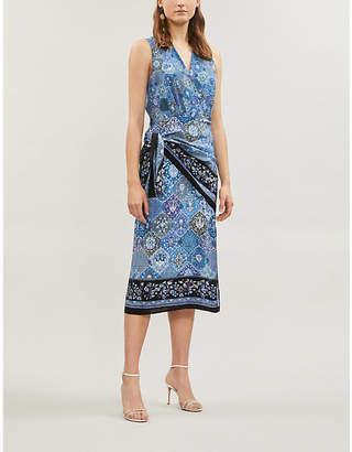 Altuzarra Sade mixed-print sleeveless crepe dress