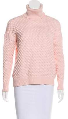 Barneys New York Barney's New York Patterned Turtleneck Sweater