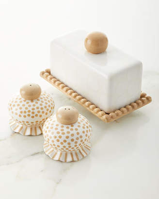 Butter Shoes Coton Colors Ruffle Dish with Salt and Pepper Set