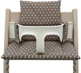 Stokke Blausberg Baby - Coated Cushion Set for Tripp Trapp High Chair of Taupe Stars