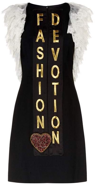 Embellished Lace Sleeve Dress