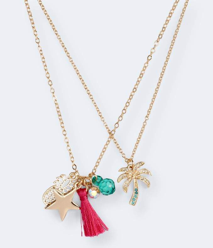 Tropical Charm Short-Strand Necklace 2-Pack