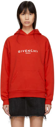 Givenchy Red Paris Vintage Hoodie