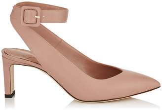 Jimmy Choo LOU 65 Ballet Pink Shiny Smooth Leather Pumps