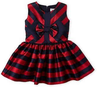 Halabaloo Infant Girls) Stripe Fit & Flare Dress