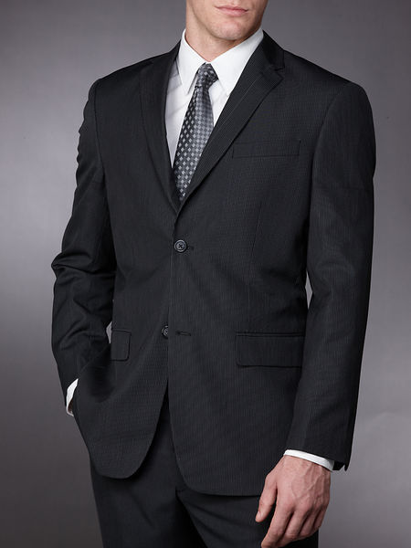 Slim Pinstripe Suit Jacket