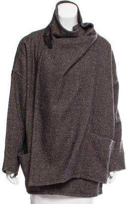 Isabel Marant Wool & Linen-Blend Oversize Cardigan