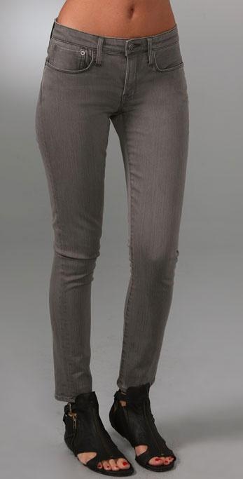 Helmut Lang Denim Cropped Legging Jeans