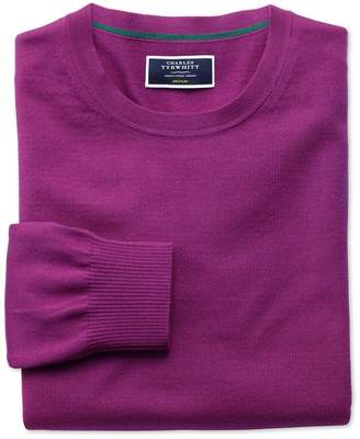 Charles Tyrwhitt Berry Merino Wool Crew Neck Sweater Size Large