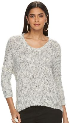 Women's Jennifer Lopez Marled Crewneck Sweater $64 thestylecure.com