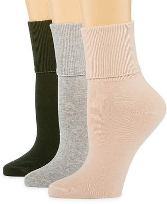 MIXIT Mixit 3 Pair Mary Jane Socks - Womens
