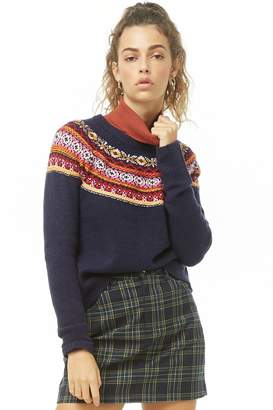 Forever 21 Fair Isle Knit Sweater