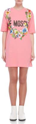 Love Moschino Pink Graphic Tee Dress