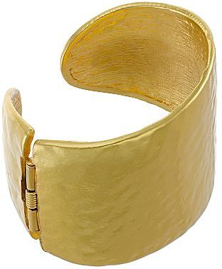 Kenneth Jay Lane FINE JEWELRY KJL by 22K Gold-Plated Hammered Cuff