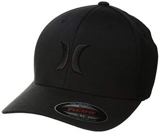 Hurley Men's One and Only Flexfit Perma Curve Baseball Hat Black