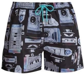 Paul Smith Camera Print Quick Drying Swim Shorts - Mens - Black Multi