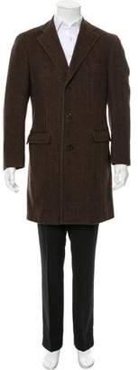 Zegna Sport Wool Herringbone Overcoat