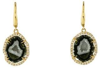 Rina Limor Fine Jewelry 18K Geode & Diamond Drop Earrings