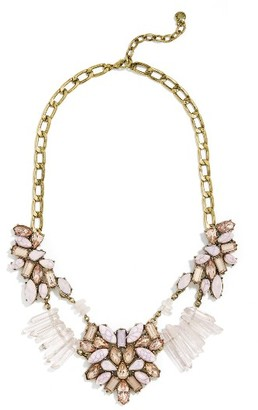 Women's Baublebar Lyla Crystal & Quartz Bib Necklace $62 thestylecure.com