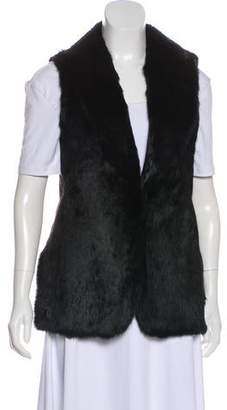 Elizabeth and James Fur Sleeveless Vest