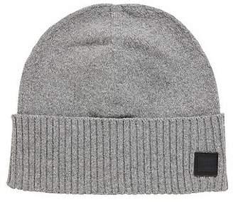 aa53f07cafe HUGO BOSS Beanie hat with turnback ribbed hem