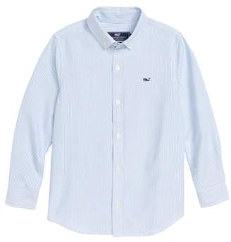 Vineyard Vines Fine Line Stripe Oxford Shirt