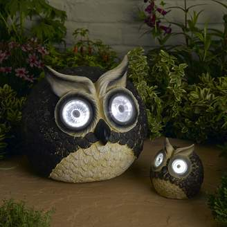 Smart Solar 2-piece Bright Eyes Owl Accent Light Set