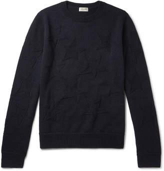 Saint Laurent Intarsia Wool Sweater