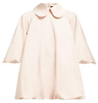 Simone Rocha Peter Pan Collar Taffeta Blouse - Womens - Pink