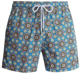 Retromarine - Solar Print Swim Shorts - Mens - Blue Multi