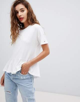 Tommy Jeans peplum t-shirt