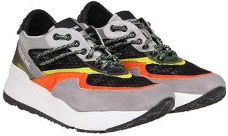 Ruco Line Rucoline Sneakers 8443 On The Gray / Orange Color Net