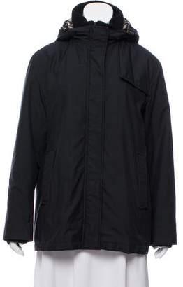 Burberry Hooded Zip-Up Jacket